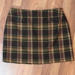Michael Kors Plaid Skirt A-Line Sz 10